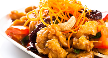 Catering Fried Chicken with Cashew Nuts