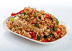 Steamed Tau Fu Chicken Basil Pepper and Garlic