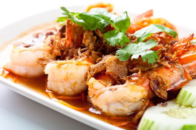 Fried Prawn with Tamarind Sauce